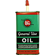Old, Whiz Oil, Tin - Colorful Graphics