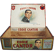 Old Cigar Box - Eddie Cantor Cigars - Wooden Box