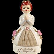Old, Porcelain Dresser Box for Rosary Beads