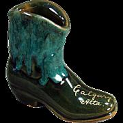 Old, Pottery Boot - Calgary Souvenir - Attractive Glaze