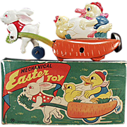 Old Wind Up, Easter Toy with Box - Celluloid & Tin - Occupied Japan