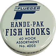 Old, Fish Hook Tin - Pflueger Hande-Pak