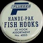 Old, Fish Hook Tin - Pflueger Hande-Pak