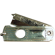 Old, Utility Knife / Cigar Cutter Watch Fob - Valet Auto Strop