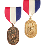 "Old, ""TFA"" Track and Field Medals with Original Ribbons"
