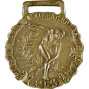 Old, Track & Field Sports Medal - 1920 Javelin Throw