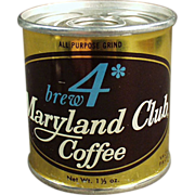 Old Coffee Tin -  Brew 4 Maryland Club from Duncan Foods Company