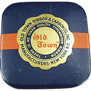 "Vintage, Typewriter Ribbon Tin - ""Old Town"""