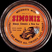 Old, Simoniz Wax Tin - Automotive and Furniture Wax