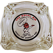 Old Advertising Ashtray - The Royal of Garden City, Idaho
