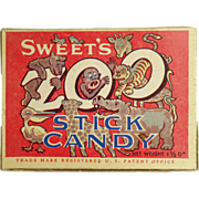 Old Candy Box - Zoo Stick Candy - Sweet Candy Co. of Salt Lake City