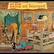 Old Postcard - Borden's Elsie and Beauregard in their Barn Boudoir