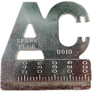 Old, AC Spark Plug Gapping Tool - Automotive Advertising