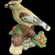 Old, Porcelain Bird - Cedar Waxwing, Very Pretty Figurine