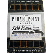 Old, Permo-Point Phonograph Needles - 10 with Original Card