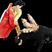 Old, Matador Doll and Bull - Great Character