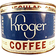 Old, 1 Pound, Key Wind Coffee Tin - Kroger's