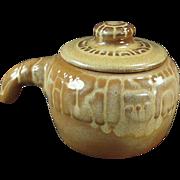 Old Frankoma - Covered Bean Pot - Mayan Aztec, Desert Gold Glaze
