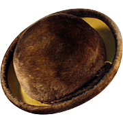 Ladies, Old, Brown Felt Hat - Littler - Lush & Stylish