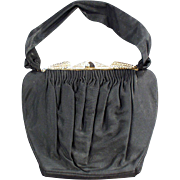 "Old, ""Guild Creations"" Evening Bag with Pretty Rhinestone Clasp"