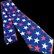 Man's Patriotic Necktie - Custom Made, Red, White & Blue