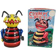 Old, Marx Wind-up Toy, Chompy the Beetle with Original Box