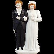 Old, Bride & Groom, Wedding Cake Topper  - Occupied Japan