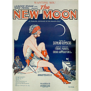 Old Sheet Music - Wanting You from The New Moon - 1928 - Colorful Graphics
