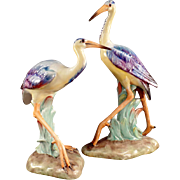 Old, Bird Figurines - Beautiful Pair, Made in Italy - Numbered