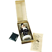 Old Smoking Novelty - Porcelain, Lord Poffy with Original Box - Western Germany