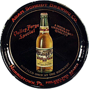 Old Tip Tray - Valley Forge Beer, Adam Scheidt Advertising