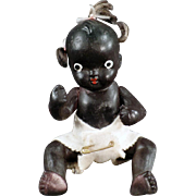 Old, Japanese Bisque, Black Baby Doll - 5""
