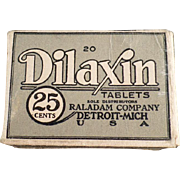 Old, Dilaxin Laxative Tablets Box