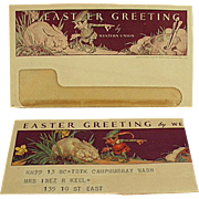 Old, Western Union Telegram - Norman Rockwell Design