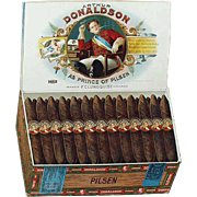 Old, Cardboard Sign Advertising Arthur Donaldson Pilsen Cigar