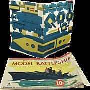 Old, Punch-out Paper, Model Battleship - Wonderful Ephemera, Great Graphics