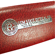 Old Eyeglass Case -Gem State Optical - Boise, Idaho Advertising