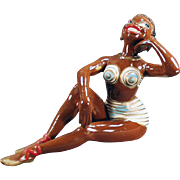 Old, Porcelain Bathing Beauty - Black Memorabilia
