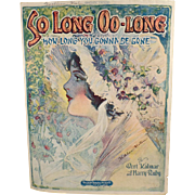 So Long Oo-Long - Old Sheet Music with Pretty Cover