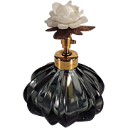 Old Perfume Bottle - Atomizer with Rose Cap - West Germany