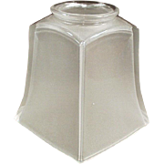 Vintage Light Fixture Shade, Single, Frosted