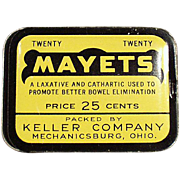 Old, Medicine Tin - Mayets Laxative