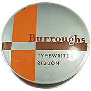 Old, Typewriter Ribbon Tin - Burroughs Adding Machine Co.