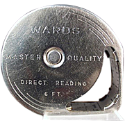Old Tape Measure, Steel - Wards Direct Reading