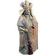 Old Incense Burner, Indian Figure - Made in Germany
