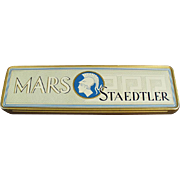 Old, Metal Pencil Box - Mars Staedtler