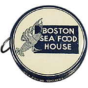 Old, Celluloid, Advertising Tape Measure - Boston Sea Food House