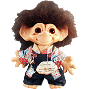 "Old, ""Iggy Normous"" Dam Troll with Original Clothes and Hang Tag"