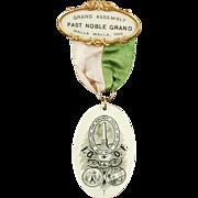 Old, Fraternal Pin - 1908, Walla Walla Odd Fellows Memorabilia - Celluloid Badge
