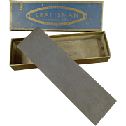 "Old, Craftsman #6440 Sharpening Stone with Original Box - 7"" Stone"